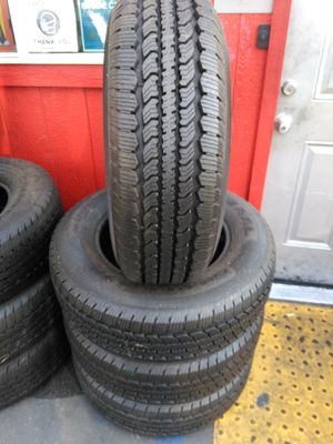 Set of semi new tires LT245 /70/R17 GENERAL GRABER for Sale in Santa Fe Springs, CA