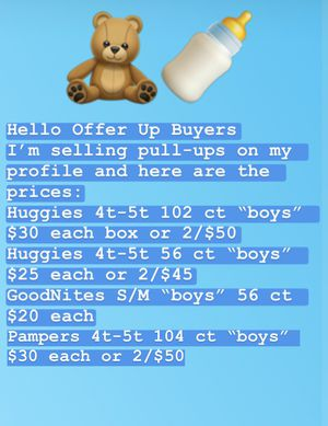 "Huggies/Pampers/GoodNites Brand Pull-ups in ""Boys"" for Sale in Washington, DC"
