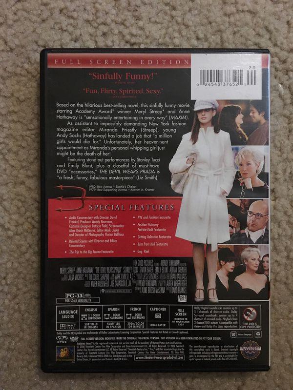The Devil Wears Prada Movie DVD