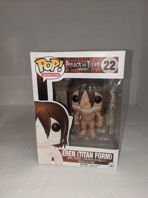 Funko Pop #22 Eren (Titan Form) for Sale in Tacoma, WA