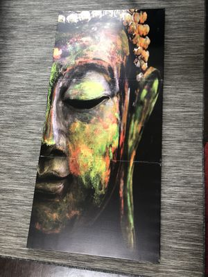 Buddha 3 piece professionally mounted canvas painting print art artwork design for Sale in San Francisco, CA