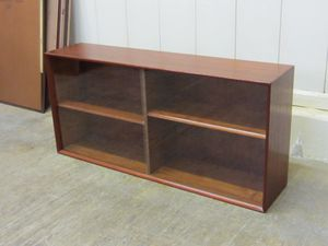 Danish Mid Century Modern Teak Bookcase with Sliding Glass Doors for Sale in Waxhaw, NC