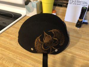 Bell Drifter Street Motorcycle Large Half Helmet Canvas Skull Spade Brown Black for Sale in Las Vegas, NV