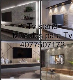 tv entertainment, carpenter,crown molding,baseboard, cabinets paint, wallpaper, custom closets, wood accent wall, fascia, shelves for store... for Sale in Orlando, FL