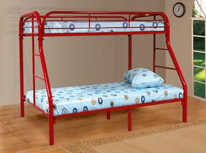 Sade twin over full Bunk Bed Red for Sale in Houston, TX