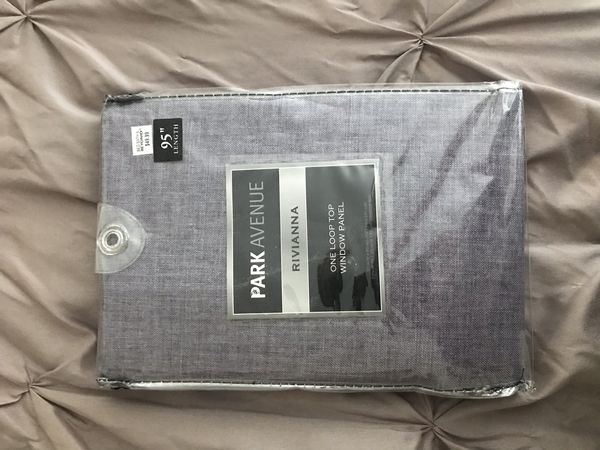 2 (Two) Packs of Park Avenue Rivianna Curtain Panels