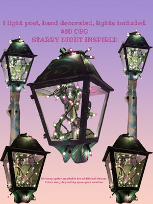Lamp post starry night inspired for Sale in Alpharetta, GA