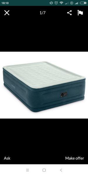 Never used Intex queen size air bed(New) for Sale in Quincy, IL