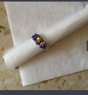 Good quality New Design Colorful Cubic Zirconia Ring Fashion Women 925 stamp sterling Silver size 7 $7 **Check out my page for other incredible offer for Sale in Avondale, AZ