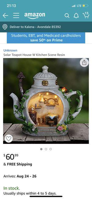Solar tea house pot with kitchen scene for Sale in Avondale, AZ