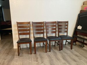 4 dining chairs for table 100. Firm for Sale in Riverside, CA