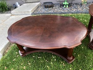 Coffee table and 2 end tables solid cherry wood for Sale in Riverview, MI