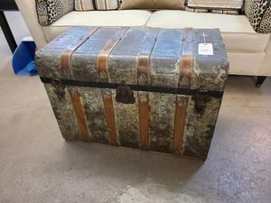 Trunk Antique metal 🌞 Another Time Around Furniture 2811 E. Bell Rd for Sale in Phoenix, AZ