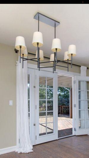 West Elm mid century modern 8 light chandelier for Sale in Poway, CA