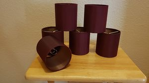 Set of 6 Red Cylinder Lampshades for Sale in Pflugerville, TX