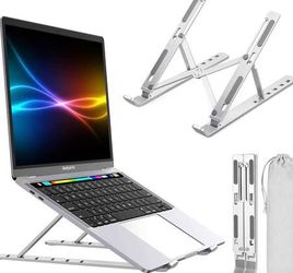 Laptop Stand,Adjustable Computer Tablet Stand,Portable Aluminum Foldable Notebook Stand with 6 Levels Height Compatible MacBook Air Pro, Dell,Lenovo,H for Sale in Pomona,  CA