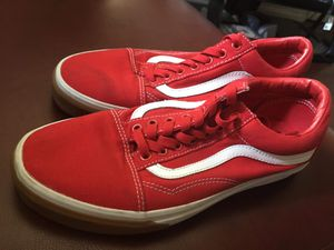 Red Vans 9.5 delivery available + charge( price negotiable) for Sale in Los Angeles, CA