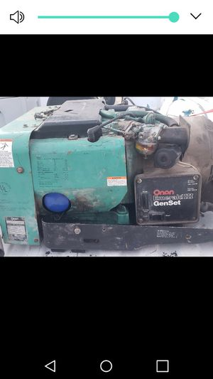 Onan 6500 watt rv generator for Sale in Nampa, ID
