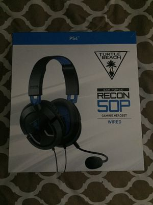 PS4 game headset turtle beaches for Sale in Washington, DC