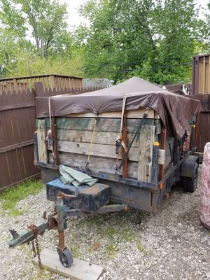 5'x8' utility trailer filled w waterfowl decoys and blinds for Sale in Taylor, MI