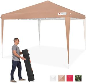 Outdoor Portable Adjustable Instant Pop Up Gazebo Canopy Tent w/Carrying Bag, 10x10ft - Tan for Sale in Los Angeles, CA