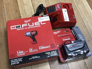 Milwaukee Fuel High Torque Impact Wrench 9.0 Battery & Charger for Sale in Framingham, MA