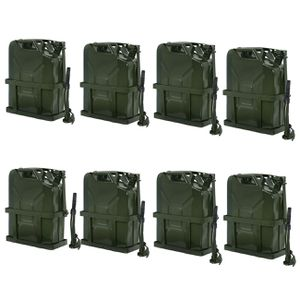 8x 5 Gallon Jerry Can Fuel Steel Tank 20L Storage Emergency Backup w/ Holder for Sale in Lake Elsinore, CA