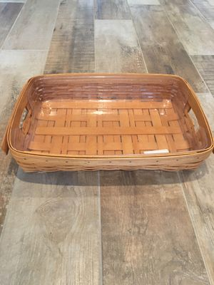 Longaberger Serving Tray with Plastic Protectors 1995 for Sale in Peoria, AZ