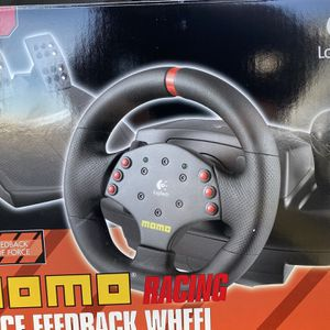 Momo Force Feedback Racing Wheel and Peddals for Sale in Wheeling, IL