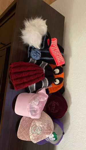 Pink , justice and knitted... hats !!! for Sale in Sacramento, CA