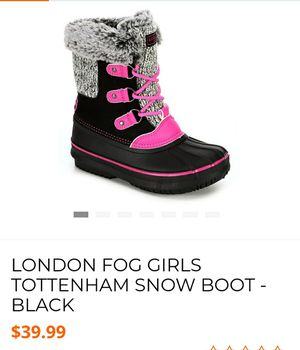 London fog girl snow boots size 2 for Sale in Alexandria, VA