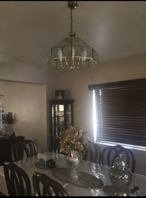 Beautiful gold finish chandelier and crystal decor for Sale in Fontana, CA