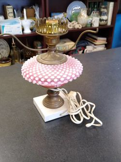 Cranberry Hobnail Lamp Base -- Needs Shade & Chimney for Sale in Virginia Beach,  VA