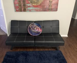 Small Couch— faux leather for Sale in Dallas, TX