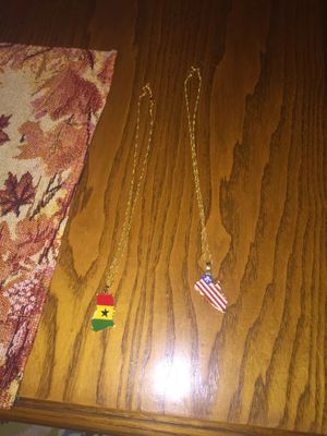 Different country pendants and necklace💫 for Sale in Clairton, PA