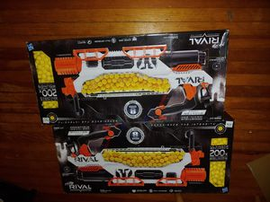 Lot of 2 Nerf Rival Prometheus MXVIII – 20K brand new box has minor damage to it! ($200 for both) for Sale in Buffalo, NY