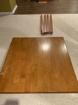 Wood counter height dining table set, chairs can be used as bar stools - $80 for Sale in Naperville, IL