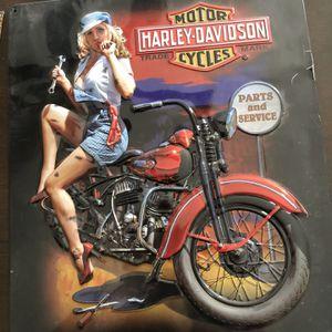 Harley Davidson Metal Plaque - Fixer Up Babe for Sale in Glendale, AZ