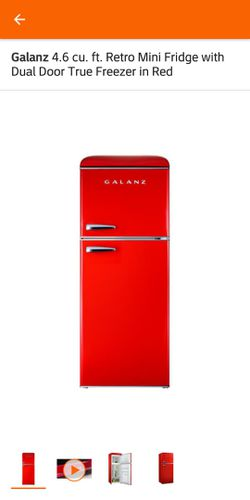 Galanz 4.6 cu. ft. Retro Mini Fridge with Dual Door True Freezer in Red for Sale in Buffalo,  NY
