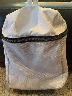Athleta white gym backpack for Sale in Orange, CA