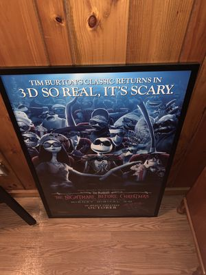 Nightmare Before X-mas 3D movie poster for Sale in Bedford, MA