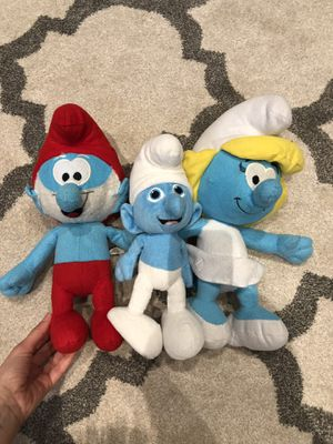 Smurf's characters stuffed animal toys for Sale in Rochester Hills, MI