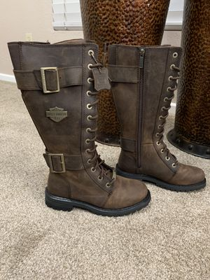 Women's Harley Davidson Leather Boots for Sale in Cutler, CA