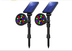 OSORD Solar Lights Outdoor, Waterproof 18 LED Multicolor Solar Landscape Spotlights Garden Decorative Lighting Color Adjustable Auto Changing 2 Pack for Sale in Rancho Cucamonga, CA