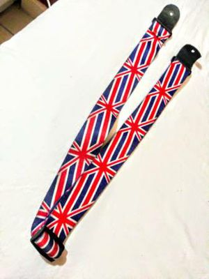 British Flag / Union Jack Guitar Strap for Electric, Bass, or Acoustic for Sale in Los Angeles, CA