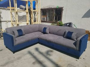 NEW 7X9FT CHARCOAL MICROFIBER SECTIONAL COUCHES for Sale in La Mesa, CA