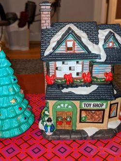 Lighted Porcelian Christmas Building & Tre for Sale in Tucker,  GA