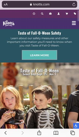 Oct 29 Two Adult Tickets for TASTE OF FALL-O-WEEN for Sale in Los Angeles, CA