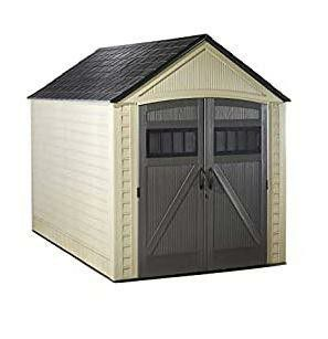 ubbermaid Roughneck Storage Shed, 7x10.5, Faint Maple and Brown for Sale in Fresno, CA