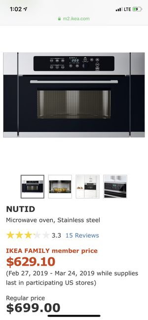 Microwave oven nutid for Sale in Hyattsville, MD